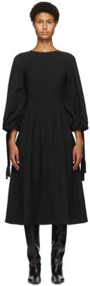 Edit Black Drawcord Mid-Length Dress