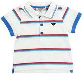 Armani Junior Striped Cotton Jersey Polo Shirt