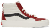 Vans Red and Off-White Sk8-Hi Reissue VI Sneakers