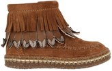 Ocra Suede Boots W/ Fringes