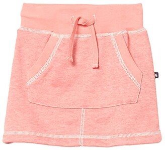 Toobydoo Sweatshirt Skirt (Toddler/Little Kids/Big Kids) (Coral) Girl's Skirt