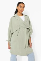 Thumbnail for your product : boohoo Oversized Belted Trench Coat