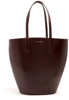 Alexander McQueen Basket small leather tote