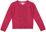 Pink Angel Cherry Cardinal Ruffle Button-Up Cardigan - Infant Toddler & Girls
