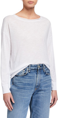 Vince Boat-Neck Cotton Pullover Sweater