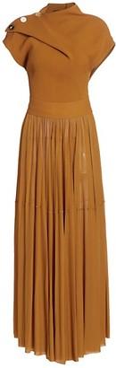Proenza Schouler Gauzy Jersey Draped Dress