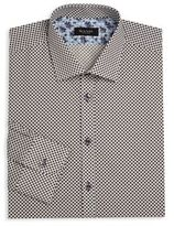 Sand Regular-Fit Gingham Floral Dress Shirt