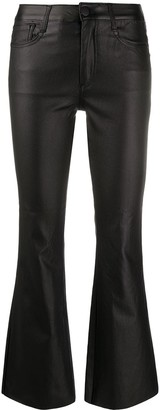 FEDERICA TOSI High-Rise Cropped Kick-Flare Trousers