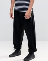 Asos Oversized Jeans In Black Rinse