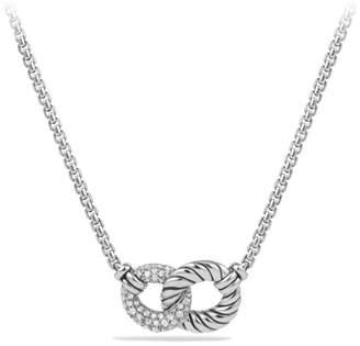 David Yurman Belmont Curb Link Double Link Necklace with Diamonds
