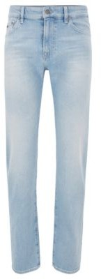 HUGO BOSS Regular Fit Jeans In Light Blue Comfort Stretch Denim - Light Blue