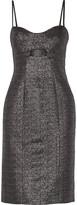 Jonathan Simkhai Cutout metallic jacquard dress