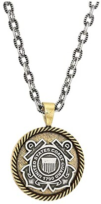 Alex and Ani Coast Guard 28 Necklace (Two-Tone) Necklace