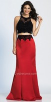 Dave and Johnny Beaded Two Piece Trumpet Prom Dress