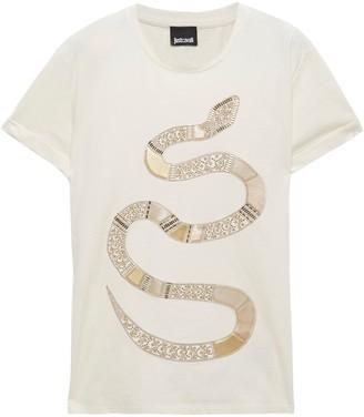 Just Cavalli Embellished Cotton-jersey T-shirt