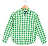 Brooks Brothers Boys' Checked Button-Up Shirt