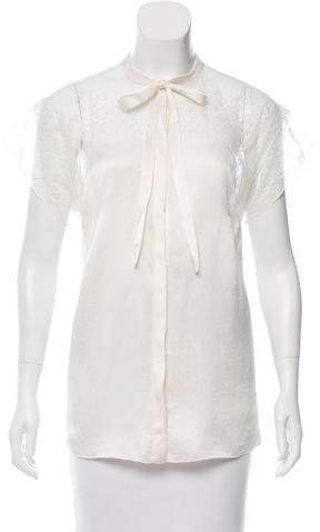 Dolce & Gabbana Short Sleeve Lace Blouse w/ Tags
