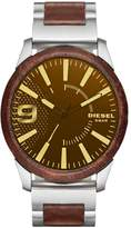 Diesel Men's DZ1799 Rasp Stainless Steel and Brown Leather Watch