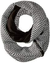 Plush Fleece - Lined Herringbone Snap Scarf