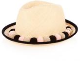 Benoit Missolin Mexico fedora pompom-embellished straw hat