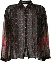 Mes Demoiselles sheer floral shirt