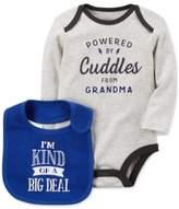 Carter's 2-Pc. Powered By Cuddles Cotton Bodysuit & Bib Set, Baby Boys (0-24 months)