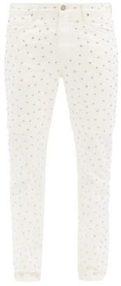 Stefan Cooke - X Lee Studded Slim-leg Jeans - White