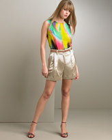 Dolce & Gabbana Silk Duchess Satin Shorts