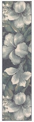 """Mario Tropical Flower Blue/White Indoor/Outdoor Area Rug Bay Isle Home Rug Size: Runner 1'11"""" x 7'6"""""""