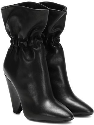 Saint Laurent Niki 105 leather ankle boots