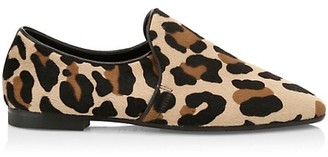 Aquatalia Revy Leopard-Print Calf Hair Loafers