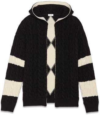 Saint Laurent Cable Knit Cardigan