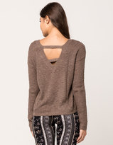 SKY AND SPARROW V-Back Womens Sweater