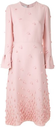 Valentino Floral Applique Dress