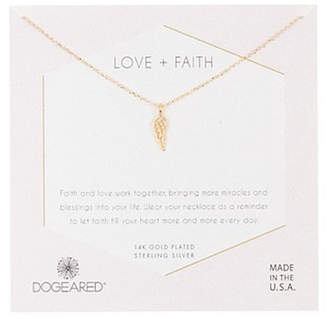 Dogeared Faith Collection 14K Over Silver Necklace