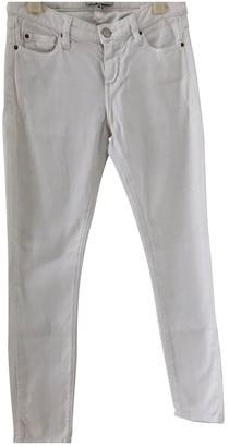IRO White Cotton - elasthane Jeans