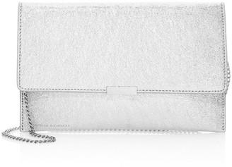 Loeffler Randall Metallic Leather Envelope Clutch