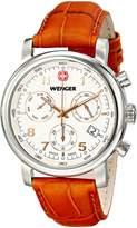 Wenger Men's 01.1043.104 Urban Classic Chrono Analog Display Swiss Quartz Brown Watch