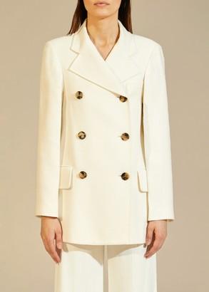 KHAITE The Clara Coat in Ivory
