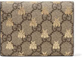 Gucci Gg Supreme Printed Coated-canvas And Leather Wallet - Beige