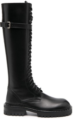 Ann Demeulemeester Buckle-Detail Knee-High Boots