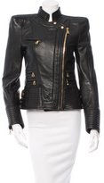 Balmain Structured Leather Jacket