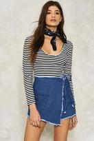 Nasty Gal nastygal Fray the Course Denim Skort