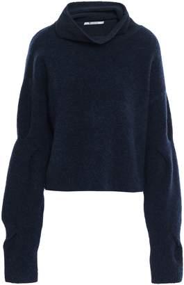 Alexander Wang Cropped Wool-blend Turtleneck Sweater