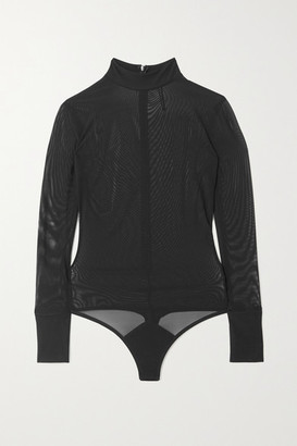 Marika Vera Jane Stretch-tulle Thong Bodysuit - Black