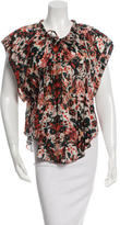 IRO Short Sleeve Floral Print Top w/ Tags