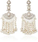 Sanjay Kasliwal Indorussian Pearl and Diamond Earrings