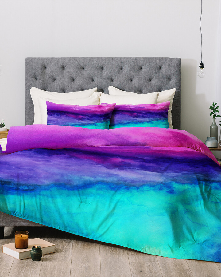 Ombre Comforter The World S, Purple And Teal Ombre Bedding