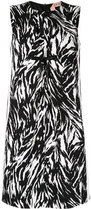 No.21 Zebra Patterned Short Dress
