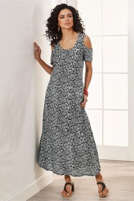 Soft Surroundings Batik Cold Shoulder Dress